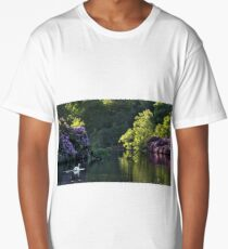 Tranquil summer reflection lake Long T-Shirt