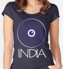 Ashok Chakra, India Women's Fitted Scoop T-Shirt