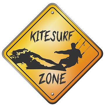Kitesurf Zone Roadsign by Manikool