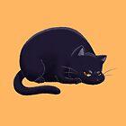 Chubby Grumpy Kitty (Black) by ArtOfSkuba