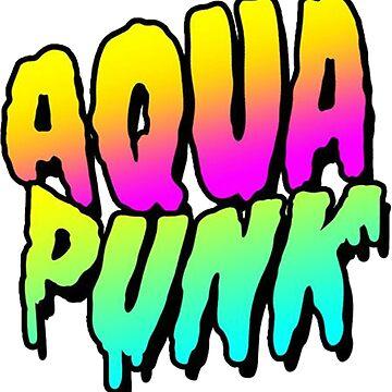 Aqua Punk Neon Lights by alleriaprints