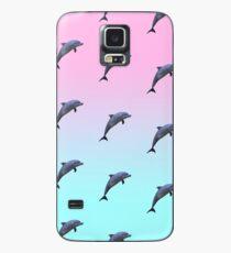 Funda/vinilo para Samsung Galaxy Patrón de delfines Vaporwave
