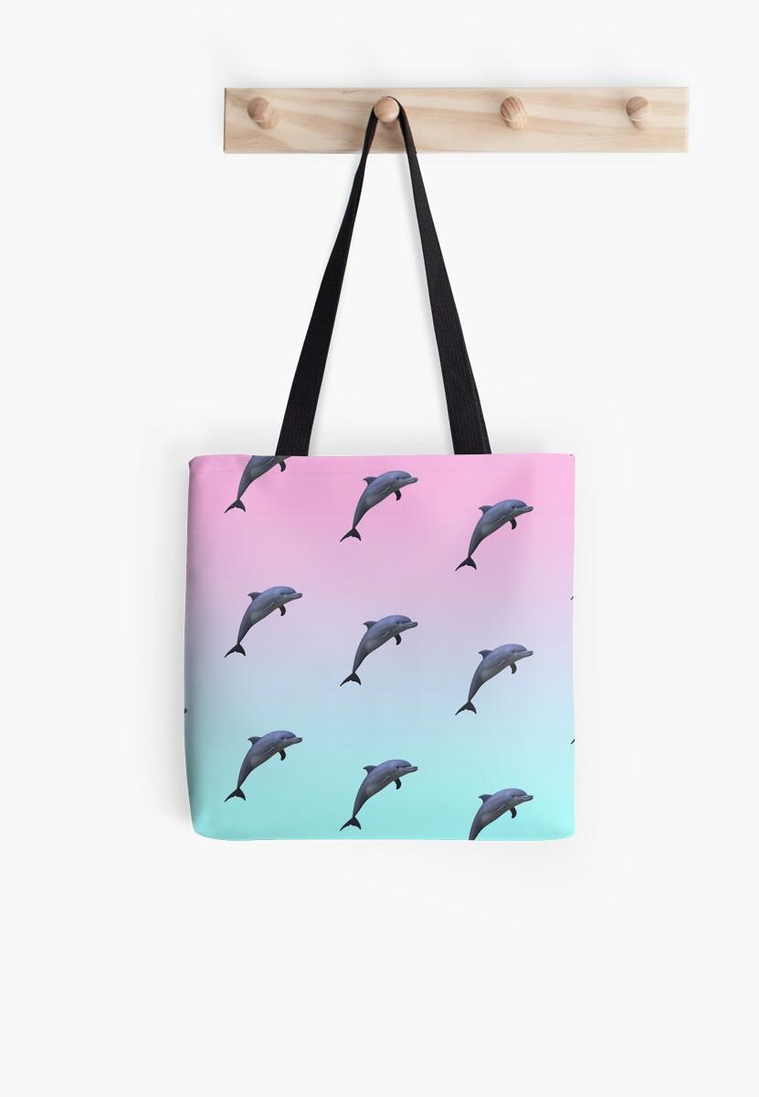 «Patrón de delfines Vaporwave» de grubz