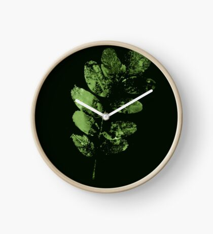Envoûtante Feuille Verte Horloge