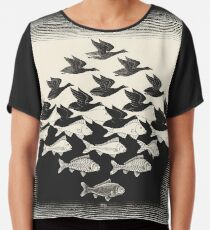 Sky and Water I - Maurits Cornelis Escher Chiffon Top