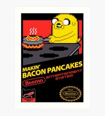 Super Makin' Bacon Pancakes Art Print
