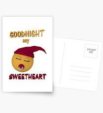 Gute Nacht mein Schatz Postkarten