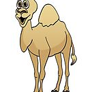 Camel Cartoon by Graphxpro