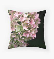 Hydrangea Bokeh Throw Pillow