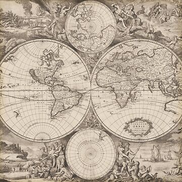 Vintage World Map by Mommylife