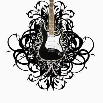 Sexy Black Guitar by Ryuuko10