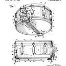 Snare Drum Thompson Patent Black by Vesaints
