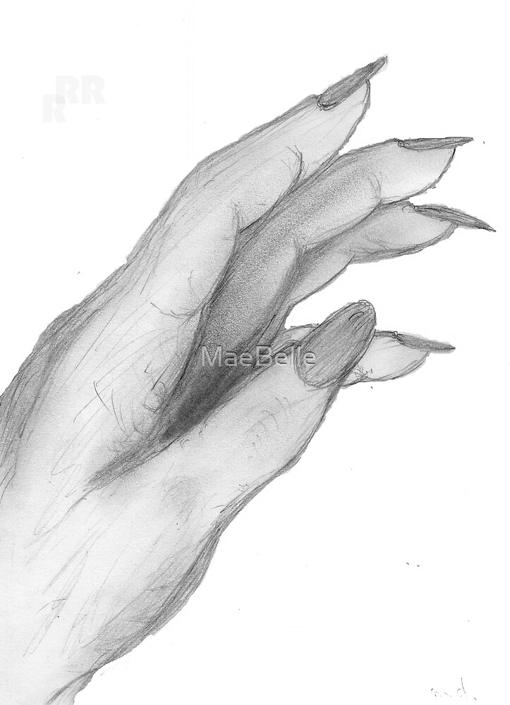 Hand,Pencil drawing, by MaeBelle