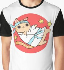 Karate Cat Graphic T-Shirt