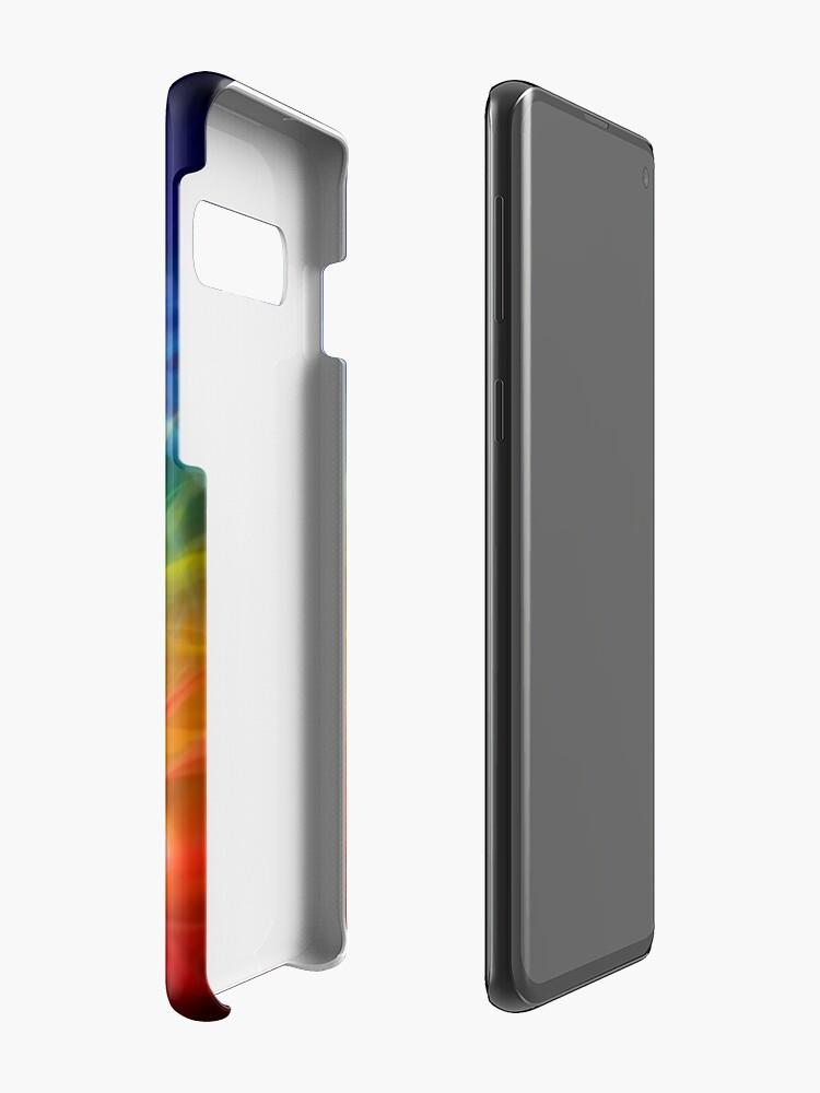 Alternative Ansicht von Chakras und Energie fließen auf Kunstfotoabzug des menschlichen Körpers Hüllen & Klebefolien für Samsung Galaxy