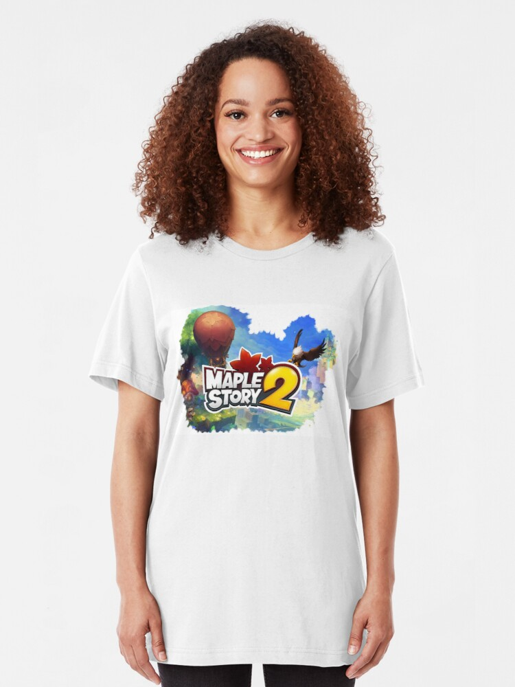 Maplestory 2 Collage design | Slim Fit T-Shirt