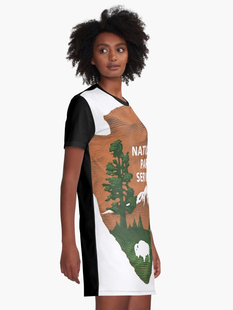 Alternative Ansicht von Nationalpark Service T-Shirt Kleid