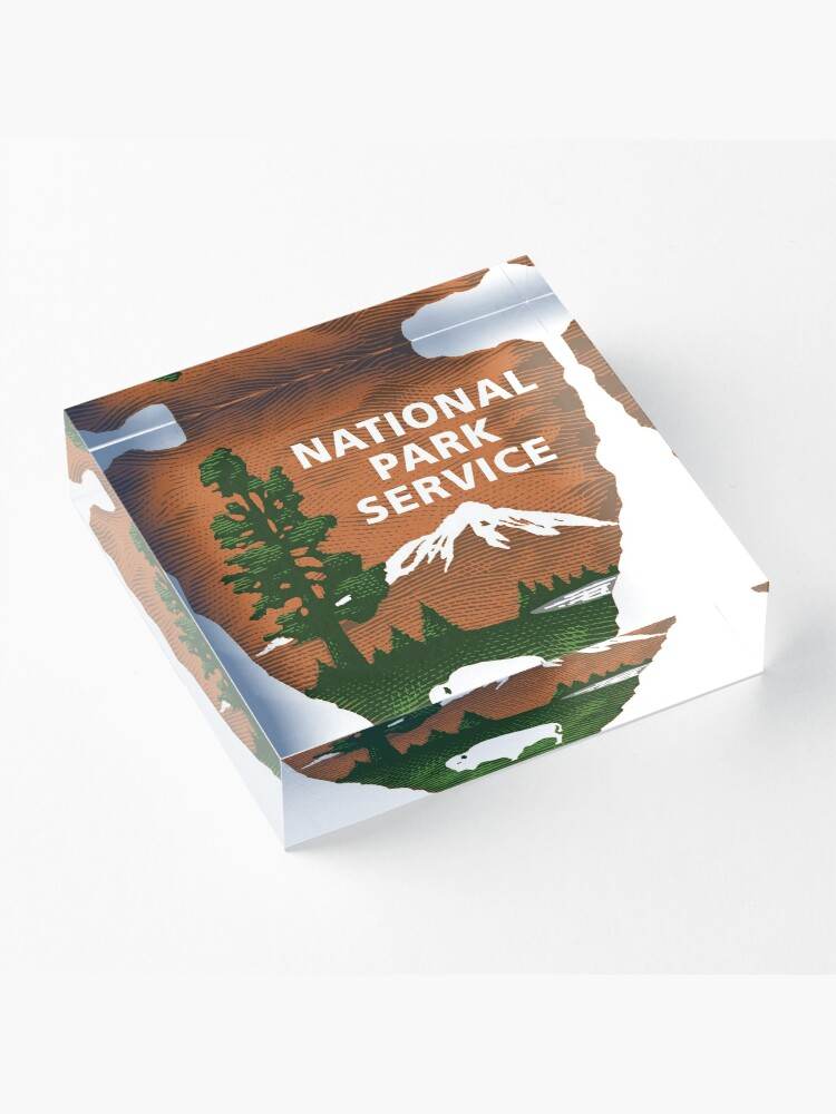 Alternative Ansicht von Nationalpark Service Acrylblock