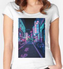 Camiseta entallada de cuello redondo Tokio - A Neon Wonderland