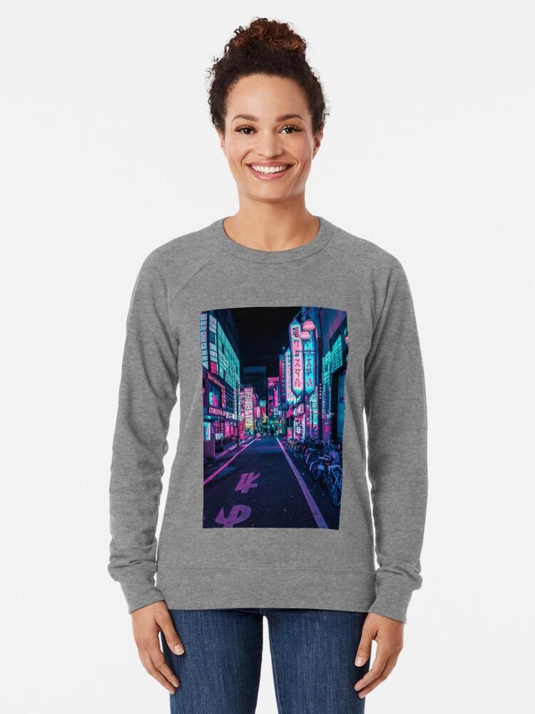 Alternate view of Tokyo - A Neon Wonderland Lightweight Sweatshirt