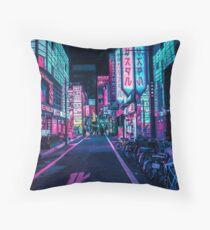 Tokio - Ein Neon-Wunderland Kissen