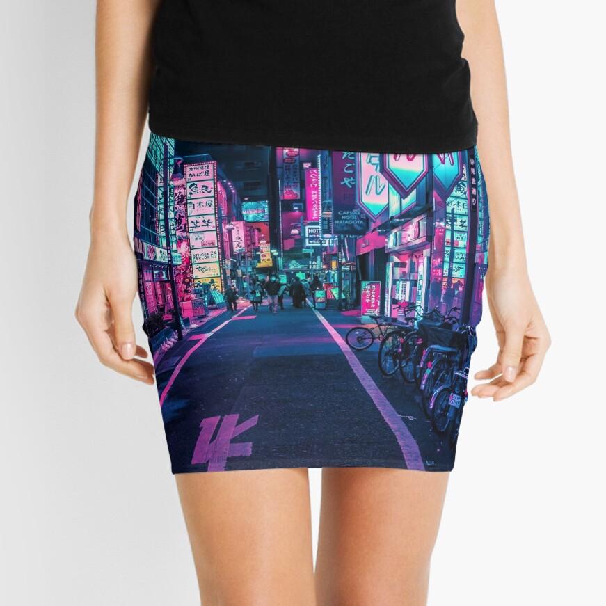Tokio - A Neon Wonderland Minifalda
