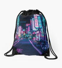Tokyo - A Neon Wonderland Drawstring Bag