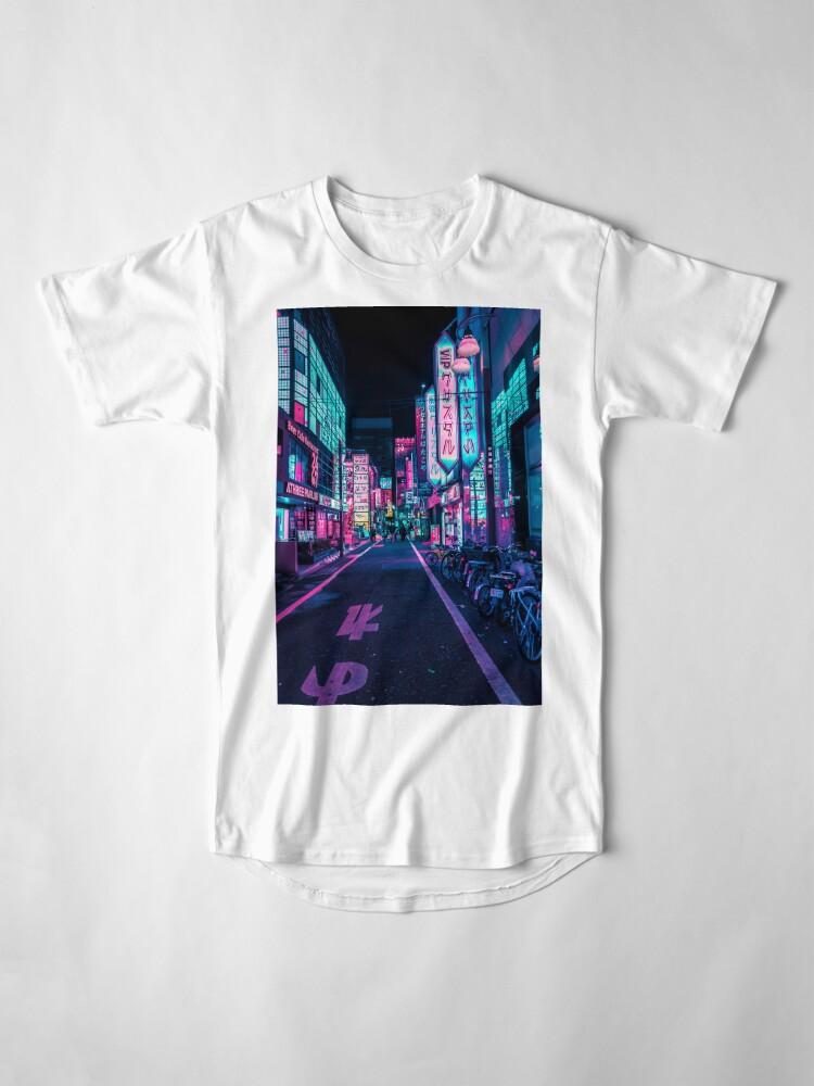 Alternative Ansicht von Tokio - Ein Neon-Wunderland Longshirt