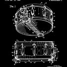 Snare Drum Thompson Patent White by Vesaints