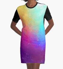 Galaxy Sky Graphic T-Shirt Dress