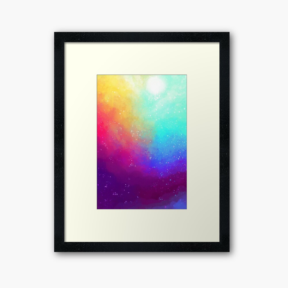 Galaxy Sky Framed Art Print