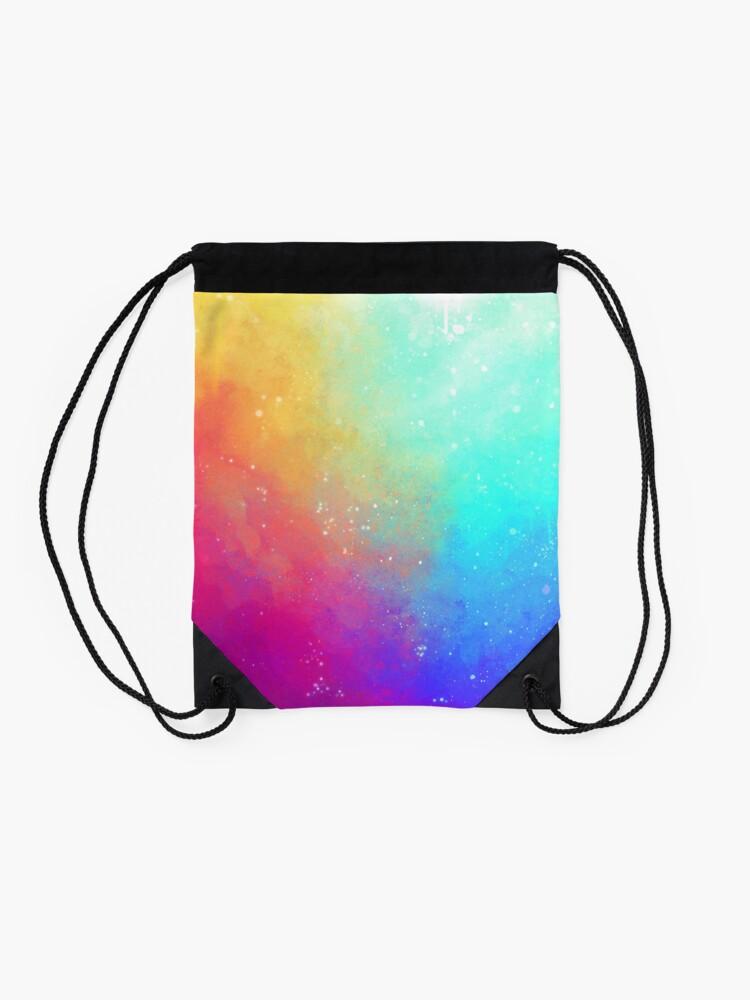 Alternate view of Galaxy Sky Drawstring Bag