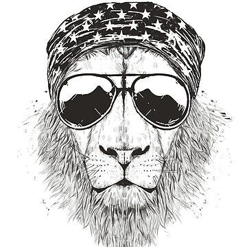 Wild lion (bw) by soltib