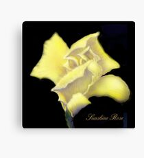 'Sunshine' Rose Digital Painting, Baroque Roses Canvas Print
