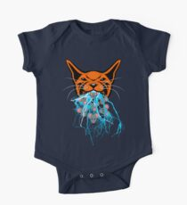 Cat Barf Mouse Heads One Piece - Short Sleeve