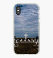 Argentine cemetery, Falkland islands. iPhone Case