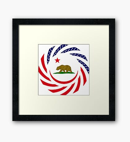 Californian Murican Patriot Flag Series Framed Print