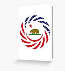 Californian Murican Patriot Flag Series Greeting Card