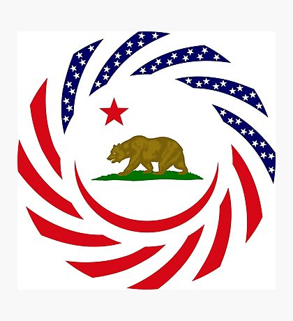 Californian Murican Patriot Flag Series Photographic Print