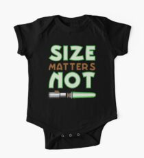 Größe ist nicht wichtig Baby Body Kurzarm