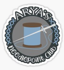 Needlepoint Club Glossy Sticker