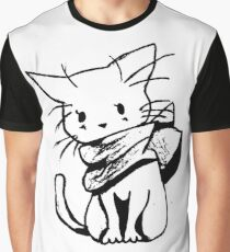 Scarf Kitty Graphic T-Shirt