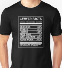 Lawyer Facts Funny Cool Attorney Gift T-Shirt Unisex T-Shirt