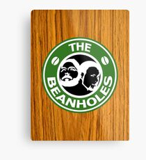 The Beanholes Woodgrain Metal Print