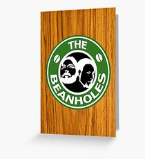 The Beanholes Woodgrain Greeting Card