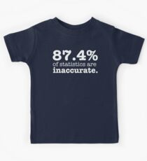Lies, Damned Lies And... - White Lettering, Funny Kids Tee