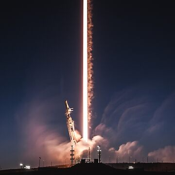 SpaceX Falcon 9 Night Launch by lurchmerch