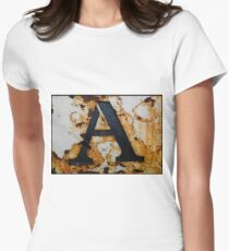 Rusty Letter A Women's Fitted T-Shirt