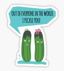 Out of Everyone In The World I Pickle You Funny Pickle Dill  Sticker