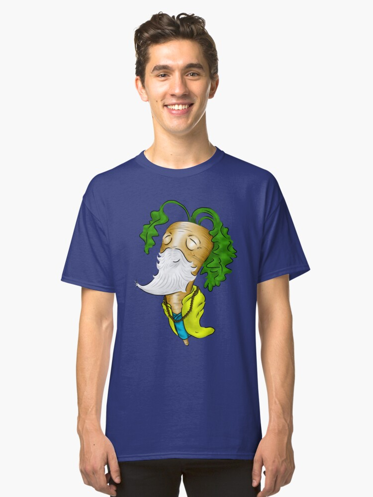 The Wise Carrot - Monk Sticker Classic T-Shirt Front